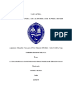 La Educación Física en El Nivel Primario Del Sistema Dominicano de Educación General Unificado
