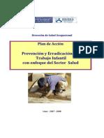 Plan de Accion Prevencion y Erradicacion Del Trabajo Infantil