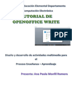 Tutorial de Openoffice Writer
