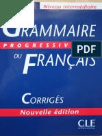 Corriges Grammaire Progressive Du Francais Ni