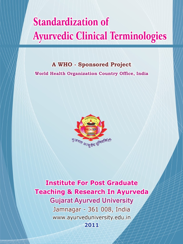 Stadardization of Ayurvedic Clinical Terminologies