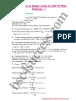 Data Analysis Interpretation for SBI PO Main Solutions 1