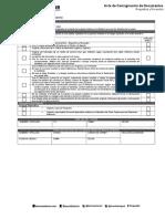 Acta de Consignacion Exterior Cuenta Corriente