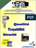 vision industrielle, Intégration de contrôle en ligne. Catalogue ATM 2010