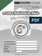 01 - Prueba Regional - 6to Primaria - Comprension Lectora