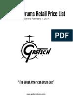 Gretsch Pricelist 2015