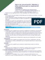 El Plan Estratégico de Comunicación Resumen