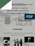 Apresentação - Politicas de Saúde