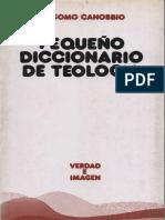 Canobbio, Giacomo - Pequeño Diccionario de Teología.pdf