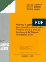 Texto Arquivos Abertos CBPM Chapada Diamantina