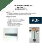 Laboratorio N 1 Constantes Elasticas