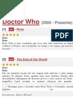 Doctor Who - Guia de Episódios (Até a 9ª Temporada)