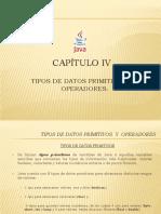Tipos de Datos Primitivos y Operadores
