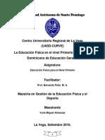 La Educación Física en El Nivel Primario Del Sistema de Educación General