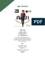 Anji – Dia Lyrics