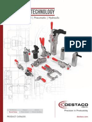 1 Unit Destaco Steel 4,000 lb Capacity Pull Action Latch Clamp