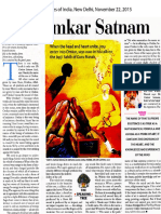 2015 the Times of India, New Delhi Nov 22