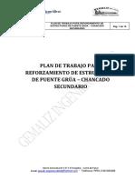 Plan de Trabajo Para Reforzamiento de Estructuras de Puente Grúa – Chancado Secundario