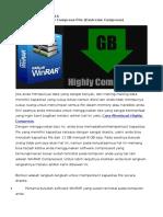 Cara Membuat Highly Compress File (Exstreme Compress)