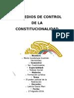 Los Medios de Control de La Constitucionalidad