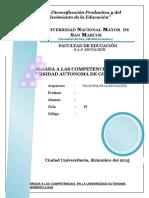 Una Mirada a Las Competencias en La Universidad Autonoma de Guerrero