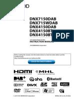 KenWood DNX7150DAB Instruction Manual