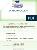 TEMA II La Planificación- Planificación Estratégica
