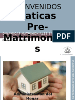 Platicas Pre-matrimoniales 2016 Administracion Del Hogar d&c