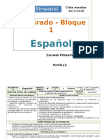 Plan 6to Grado - Bloque 1 Español (2015-2016).doc