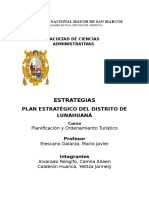 Plan Estratégico de Lunahuana