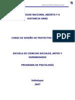 Diseño de Proyectos Sociales. Módulo General de Curso. Cbc.