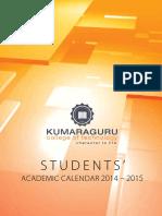 Academic Calendar 2014 2015 Students