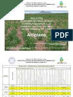 Boletín Agrometeorológico Correspondiente a La Primera Decena Del Mes de Septiembre Nro. 1040-ALTIPLANO