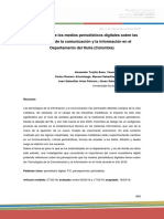 Percepciones de Los Medios Periodísticos Digitales Sobre Las Tecnologías de La Comunicación y La Información en El Departamento Del Huila (Colombia)