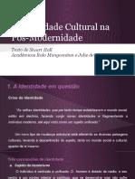 A Identidade Cultural Na Pós-modernidade