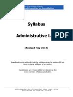 Admin Syllabus