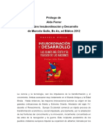Prólogo de Aldo Ferrer a Insubordinación y Desarrollo