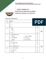 Percubaan PT3 2016 KEDAH Mat Skema