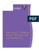 Kenyon New Employee Guidebook