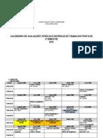 Calendário de Provas - 2 Bim 2016 - Revisado