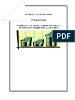 Comparative Study of Foreign Direct Investment (Fdi) in India and China