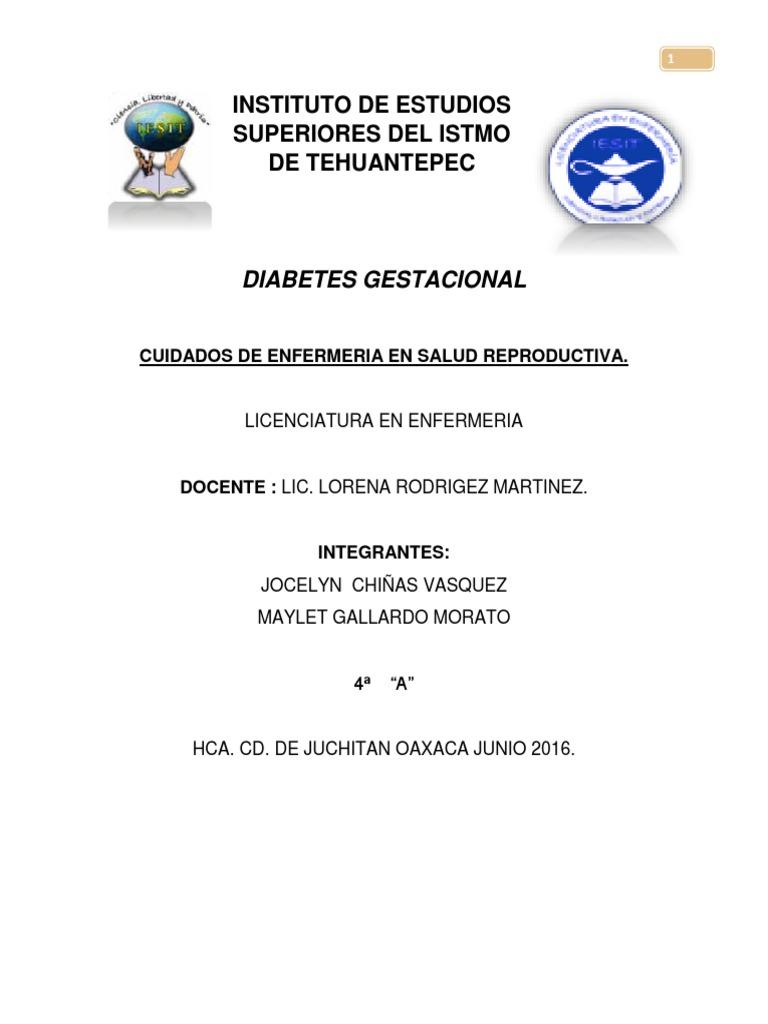 cuidados de enfermeria en diabetes gestacional