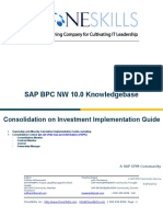 BPC 10 NW ClonesKills Consolidation on Investment Implementation Guide