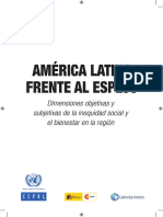 CEPAL AL Frente Al Espejo Dimensiones Objetivas y Subjetivas de La Inequidad y El Bienestar 2010