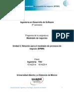 Unidad 2 Notacion Para El Modelado de Procesos de Negocio DMDN