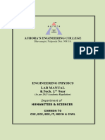Engg Phy Lab Manual