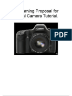 requsest for proposalE-Learning Proposal for Digital Camera Tutorial.