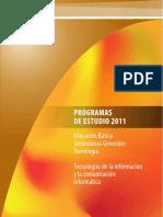 Programa de Estudio TECNOLOGIA Escs Generales