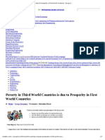 Poverty in Third World Countries is Due to Prosperity in First World Countries - Group Discussion