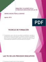 Implementación de Tecnicas Formativas